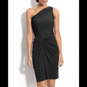 NWT Maggie London Black One Shoulder size 14 Dress